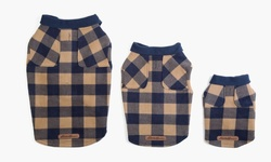 EB Flannel Shirt Vest for Dogs - Navy - Size: Large
