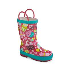 Toddler Girl's Cupcakes Rain Boots - Multicolor - Size: 11-12