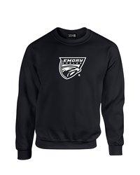 SDI NCAA Emory Eagles Mascot Foil Crew Neck Sweatshirt - Black - Size: M