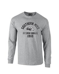 SDI NCAA Southern Mississippi Golden Eagles Sleeve T-Shirt - Gry - Size: M