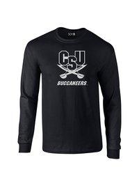 SDI NCAA Charleston Southern Buccaneers Sleeve T-Shirt - Black - Size: S