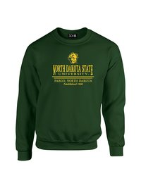 SDI NCAA North Dakota State Classic Neck Sweatshirt - Forest - Size: M