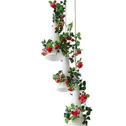 Yiliyajia Rose Wall Party Decor Wedding Decoration - Red - 8ft - Pack of 5