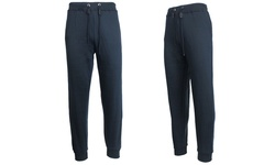 Galaxy By Harvic Men's Slim Fit Fleece Jogger Pants - Navy - Size: Medium