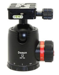 Demon 46mm Tripod Ball Head Arca Compatible with Pan Lock&60mm QR Plate