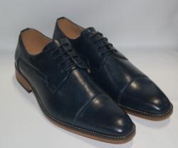 UV Signature Men's Lace-Up Dress Shoes - Navy - Size: 12
