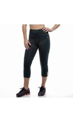Copper Fit Women's Compression Capri Workout Leggings - Black - Size: M