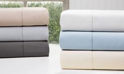 Wexley Home 1200TC Cotton-Rich Sheet Set: Celestial Blue/Queen