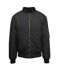 Spire By Galaxy Men's Flight Jacket - Black - Size: Medium