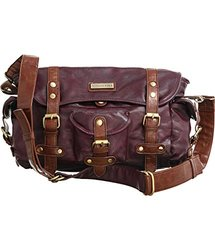 Vitalio Vera Patricia Burgundy Shoulder-to-Crossbody Crossbody Adjustable Satchel Bag