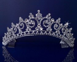 Sparklycrystal Rhinestones Crystal Princess Tiara Crown
