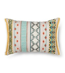 Toss Multi Embroidered Oblong Throw Pillow - Multi-Colored