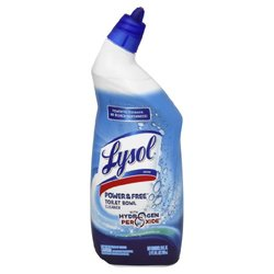 LYSOL Brand Power & Free Toilet Bowl Cleaner, 24 oz Angle-Necked Bottle