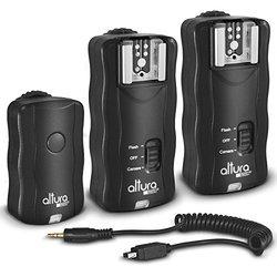 (2 Trigger Pack) Altura Photo Wireless Flash Trigger for NIKON w/ Remote Shutter Release (NIKON DF D3200 D3100 D3300 D5000 D5100 D5200 D5300 D7000 D7100 D600 D610 D750 D90)