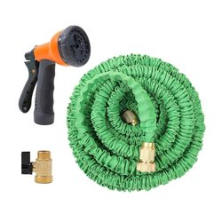 Ohuhu Expandable Garden Hose with Brass Connector - 75 Feet