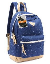 Leaper Lightweight Backpack Cute School Bag - Dark Blue - Size: M
