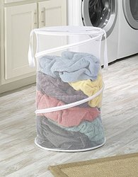 "Whitmor 15"" Collapsible Laundry Hamper - White"