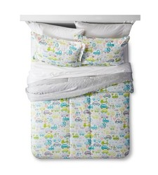 2-pc Reversible On The Road Comforter Set - Ocean Green - Size: Twin