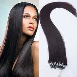 Human Straight Hair Extensions - color #1B Natural Black