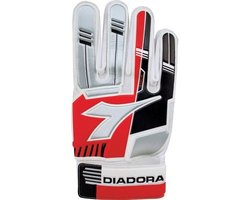 Diadora Youth Luca Goalie Gloves - Red-Silver-Black - Size: 5