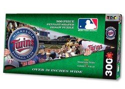 TDC Games MLB Minnesota Twins Pennant Shaped Puzzle