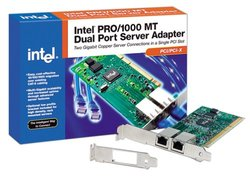 Intel PRO/1000 MT PCI/PCI-X Dual Port Server Adapter