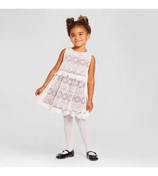 Genuine Kids Girl's A Line Lace Dress - Red/Polar - Size: 6
