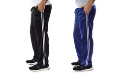 Vertical Sports Men's 2-Pack Track Pants - Black/Blue - Size: 2XL