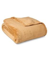 Threshold Microplush Blanket - Beige - Size: Twin