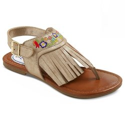 Girl's Peaceout Fringe Gladiator Sandals - Gold - Size: 3