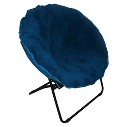 Room Essentials Fuzzy Dish Chair - Peacock Blue