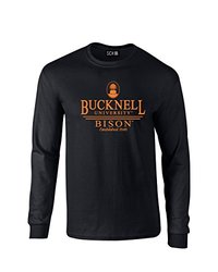 SDI NCAA Bucknell Bison Classic Seal Long Sleeve T-Shirt - Black - Size: S