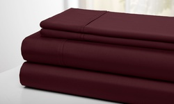 Wexley Home T300 100% Cotton Sheet Sets - Wine - Size: King