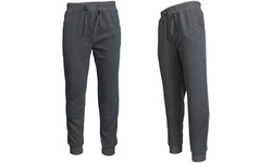 Galaxy By Harvic Men's Jogger Pants - Charcoal - Size: Large