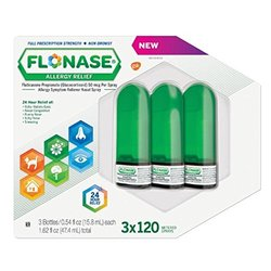 Flonase Allergy Relief Nasal Spray - 120 ct ea. - Pack of 3