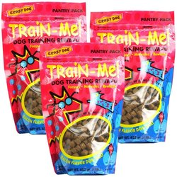 Crazy Dog TrainMe Treats Bacon Flavor - 3 lb - Pack of 3