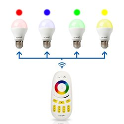 G1 Color Changing Dimmable RGB LED Light Bulb w/ Controlled Remote Combo