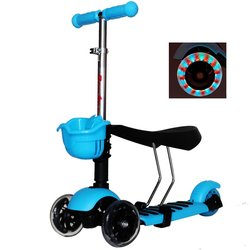 Rimable Toddler 3in1 Kick Scooter With Big Light Up Wheels - Blue