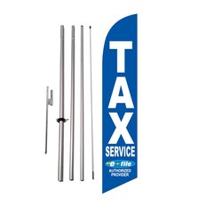 Feather Flag Nation Tax Service E-file Advertising Feather Banner Flag Kit