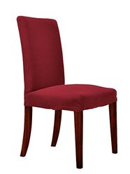 Chunyi 4-Piece Jacquard Polyester Dining Chair Covers - Wine