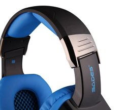 Sades SA903 7.1 Surround Sound USB PC Gaming Headphones w/ Mic - Black