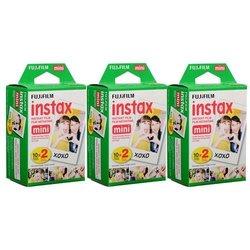 Fujifilm Instax Mini Instant Film - 3 Twin Packs - 60 Total Pictures