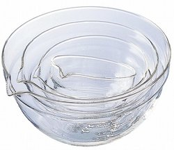 Hario One Side Of The Story Lipped Bowl - Set of 4 - Clear