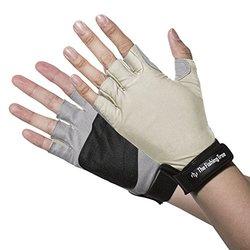 Fishing Tree Unisex Sun Protection Fingerless Gloves - Sand - Size: M