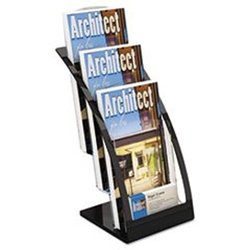 Deflect 2 Tier Leaflet Holder 6-3/4w x 6-15/16d x 13-5/16h - Black