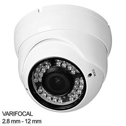 R-tech Rvd70w-hd 1000tvl Dome Security Camera White - Outdoor - Night/day - 2.8-12mm Lens