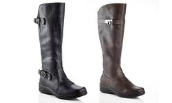 Rasolli Wide Width Comfort Riding Boot: Lala-06-black/9