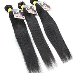 ALI HOT women's Hair Mixed Length 300g 22in 24in 26in Human Hair - black