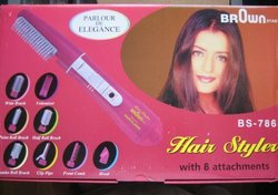 Brown Star Hair Styler with 7 Attachments & International Power Settings