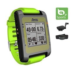 Bryton Amis S630R Heart Rate Monitor GPS Watch Bike Mount - Green